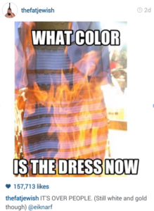Burn the dress
