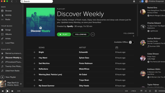 Spotify Blog Discover Weekly