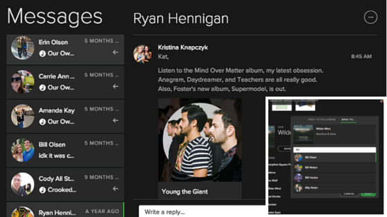 Spotify Blog Messages