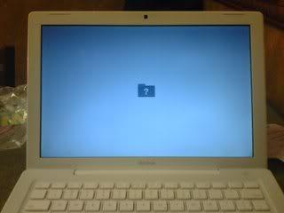 mac laptop goes white screen